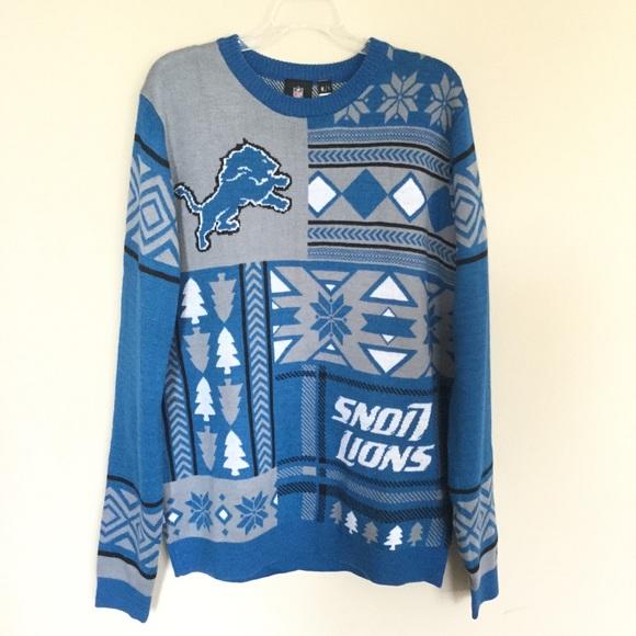 brand new d65b7 b2d06 NFL Detroit Lions Football Ugly Christmas Sweater